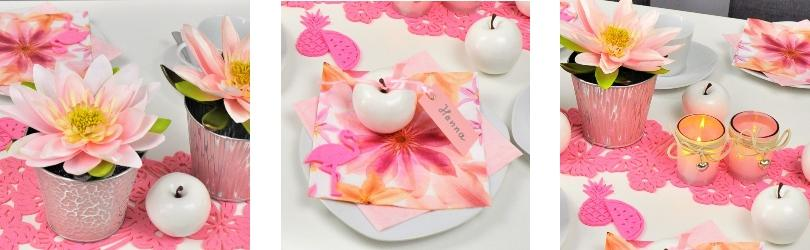 Serviette Pressed Flowers 33x33cm 20er Pack