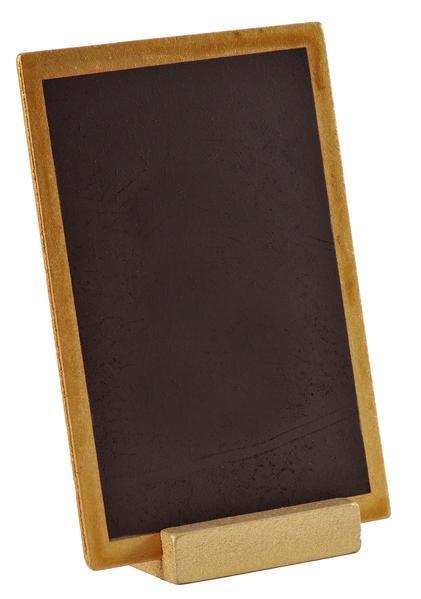 Tischtafel 10x15cm Holz Schwarz/Gold