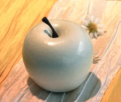 Deko-Apfel 6.5cm Weiß
