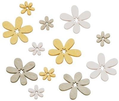 Holzblume Streu Gelb 2-4cm 18 Stück