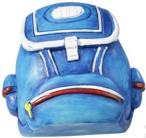 Streudeko Schulranzen Blau 4 cm