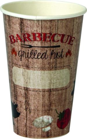 Trinkbecher BARBECUE GRILLED HOT 300ml 8 Stück