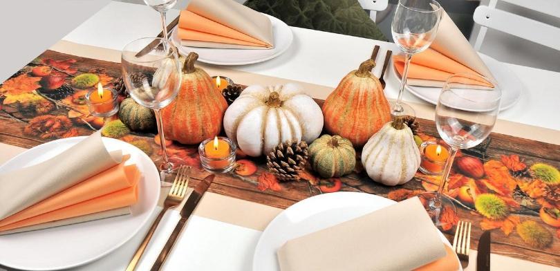 Herbstliche Tischdekoration Kürbiszeit