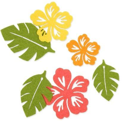 Streusortiment Blumen/Blätter Corale / Grün / Gelb - Schöne Naturdeko