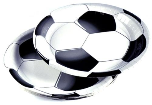 DUNI Papp-Teller Fußball Football Star 22cm 10er Pack - Trotz Corona mit Freunden feiern