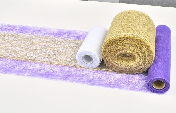 Sizoflor Tischband Violett auf 25m-Vorteilsrolle - Mittelmeer-Deko