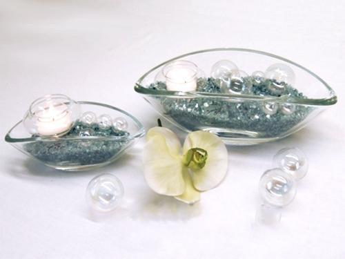 Glas-Schiffchen als Schale, Vase, Windlicht