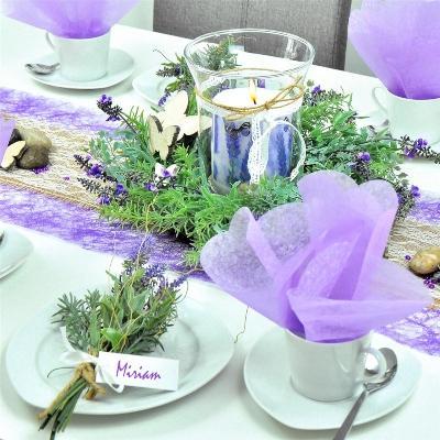 Lavendel- und Kräuterkranz 44cm - Mittelmeer-Deko