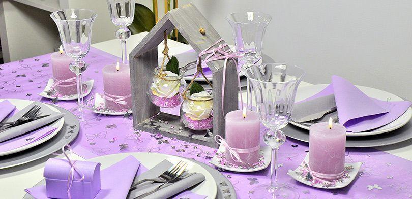 Tischdekoration in Lavendel - Tischdeko im Provence-Stil
