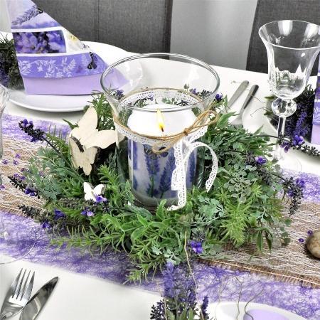 Lavendel- und Kräuterkranz 44cm - Tischdeko im Provence-Stil