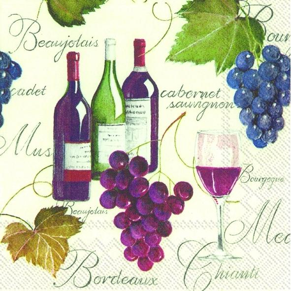 Serviette Bordeaux 24x24cm 20er Pack