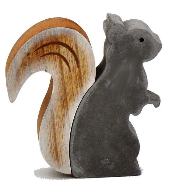 Eichhörnchen Holz Zement 12cm