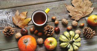 Schöne Herbsttischdeko