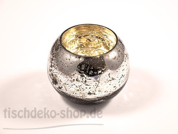 Glas-Windlicht Mercury D 12,5 H 9,5cm - Kerzen arrangieren