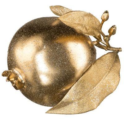Granatapfel Gold mit Glitzer D12,5cm