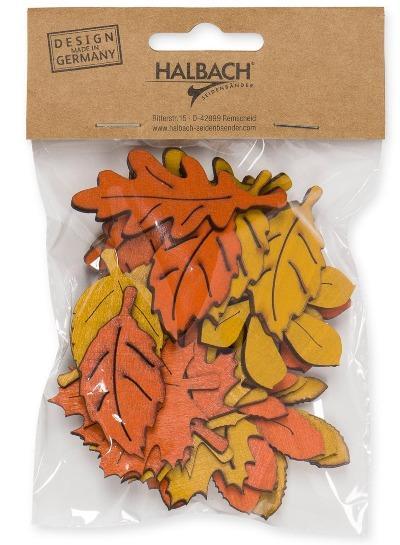 Streudeko Herbstblätter bunt 24 Stück