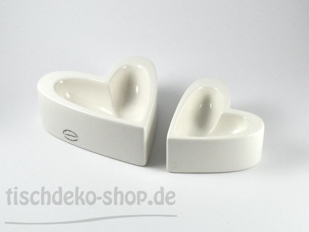 Herz-Schale Porzellan weiß 11,5x12x5cm