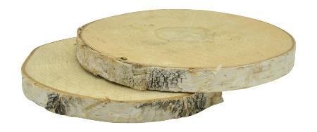 Birkenscheibe rund 19-20cm H2cm 2er Set