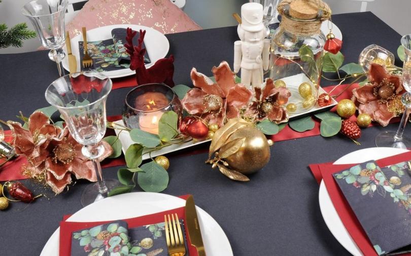 Weihnachtliche Tischdeko Eukalyptustraum - Stimmungsvolle Wintertischdeko