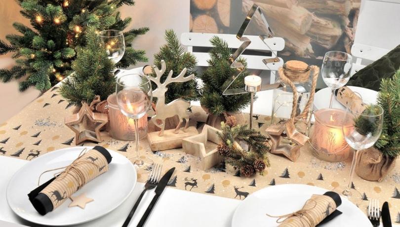 Tischdeko Weihnachtswald