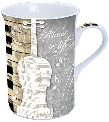 Becher / Tasse Music is Life h11cm D 7,5cm 0,25l