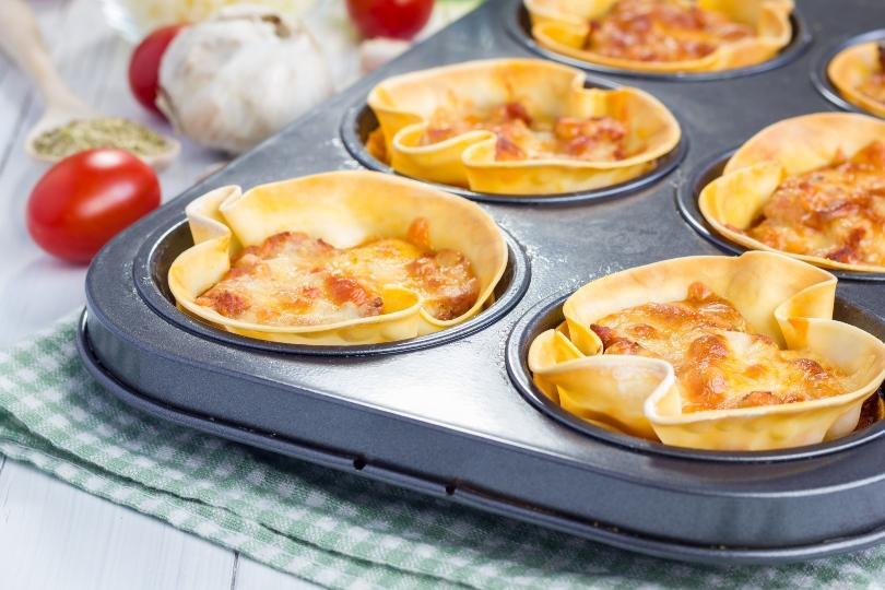 Kleine Portionen Lasagne - zum Beispiel für den Brunch am Sonntag