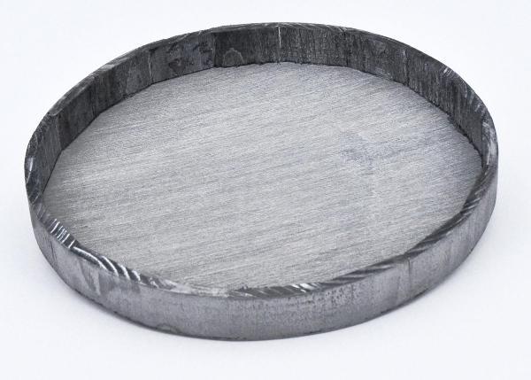 Tablett Grau h3cm d21cm - Landhausdeko für den Tisch