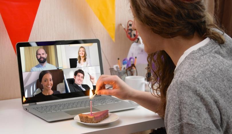 Geburtstagsfeier per Internet Video-Konferenz