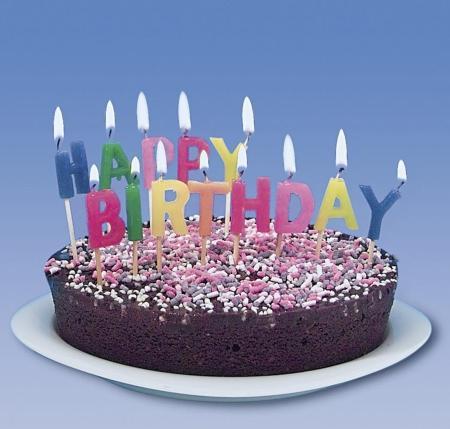 Kerzen Buchstaben Happy Birthday ca. 7cm