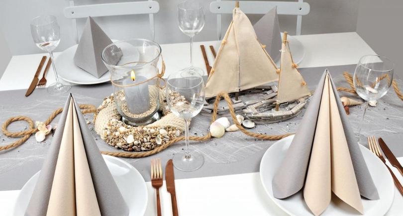 """Maritime Tischdekoration """"Auf großer Fahrt"""""""