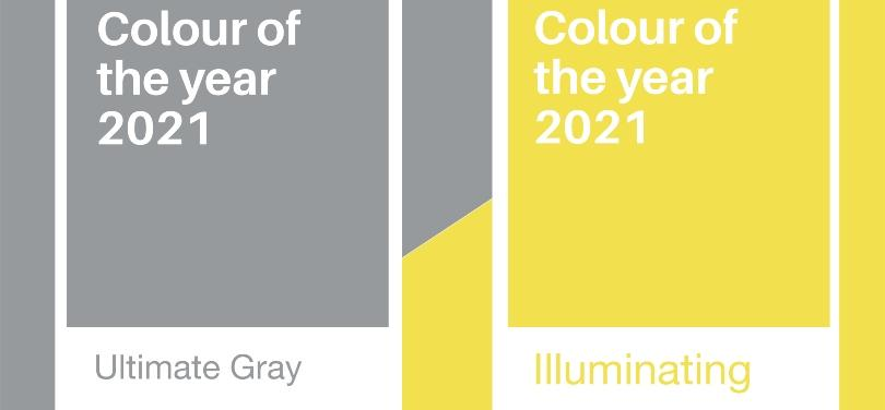 Ultimate Gray und Illuminating snd die Pantone Trendfarben 2021