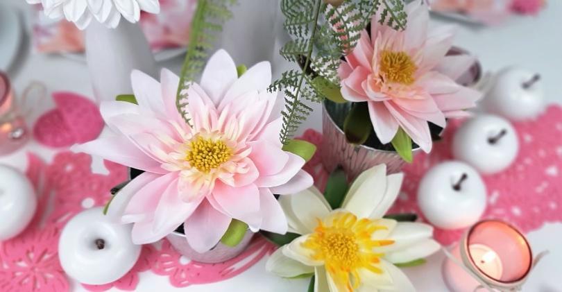 Dekorative Seidenblumen - Blumenarrangements