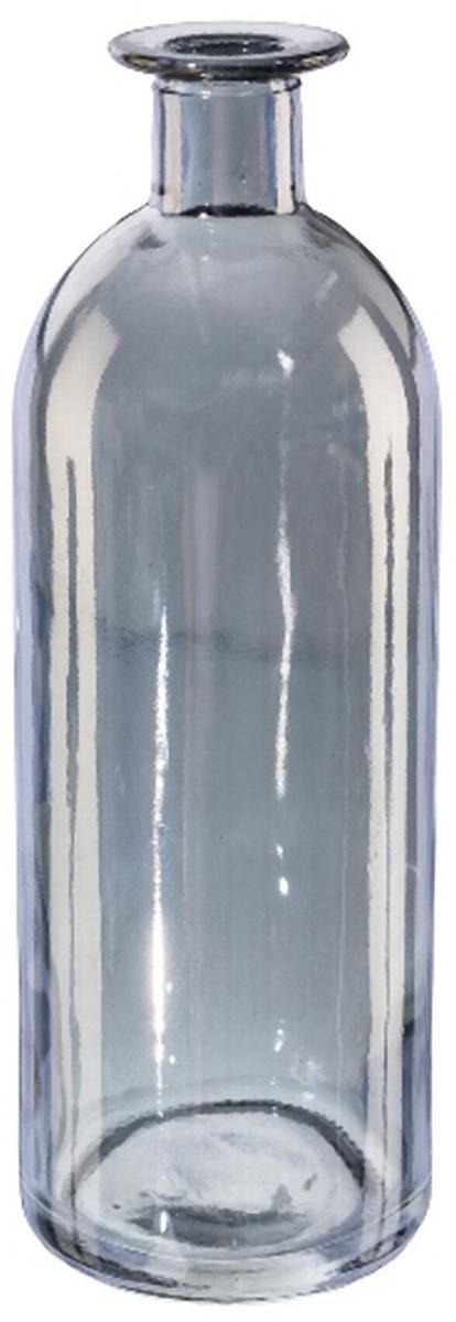 Flaschenvase Luster Glas Grau 16cm