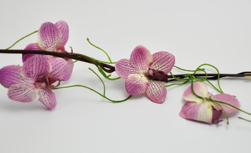 Orchideen-Girlande Pink 155cm - Blumenarrangements