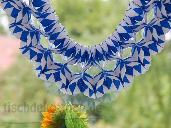 Bayern-Girlande, eckig, 4m Blau / Weiß - Festzeltdeko für daheim
