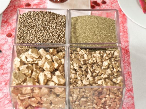 Deko-Sand, -Granulat, -Kies, Steine Gold - Golddeko