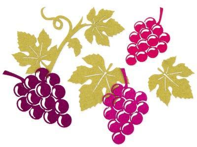 Filzsortiment Weinreben Weinlaub 4.5-10 cm