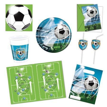 Kinderparty-Set Football 55-teilig für 6-8 Kinder