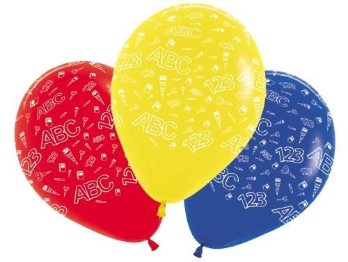 Luftballon Schulanfang bunt 5 Stück