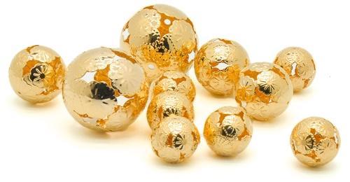 Metallkugeln Marrakesch Gold sort. 11er Box