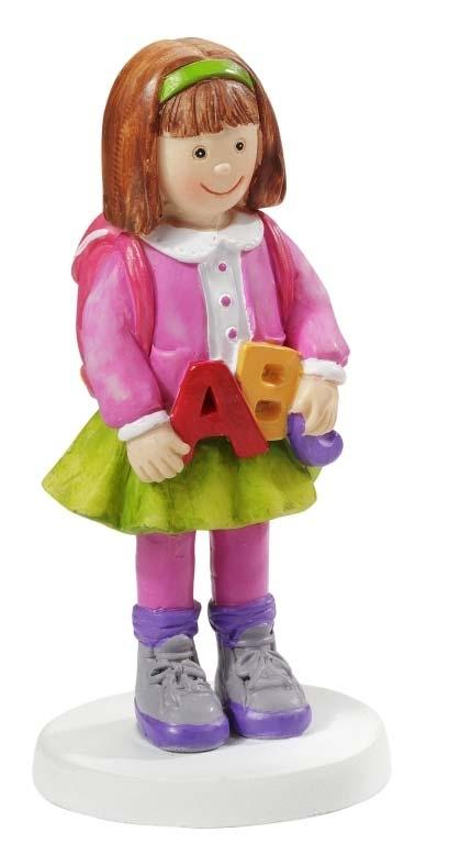 Figur Einschulung Mädchen ABC bunt 8.5 cm