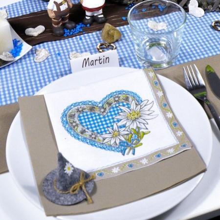 Serviette Lovely Edelweiss 33x33cm 20er Pack
