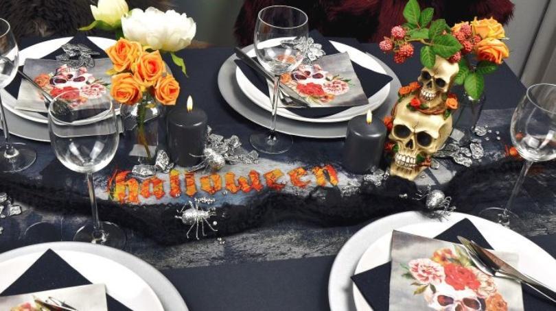 Tischdekoration für Halloween