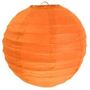 Laterne orange Party Saaldeko D 30cm 2 Stück - Dekolichter